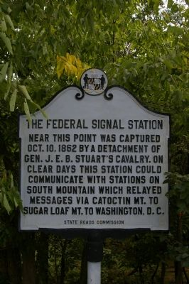 The Federal Signal Station Marker image. Click for full size.