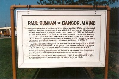 Paul Bunyan of Bangor, Maine Marker image. Click for full size.