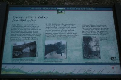 Gwynns Falls Valley - From Work to Play Marker image. Click for full size.