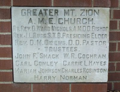 Mount Zion Cornerstone image. Click for full size.