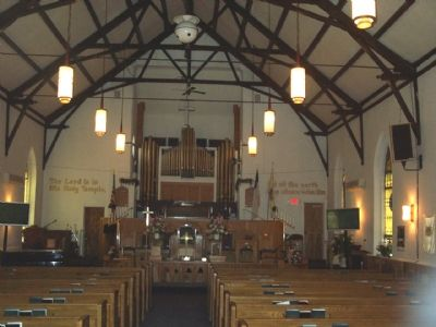 Interior of Mt. Zion Church image. Click for full size.