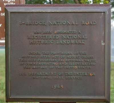 National Historic Landmark Plaque for the Bridge image. Click for full size.