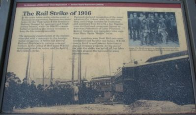 The Rail Strike of 1916 Marker image. Click for full size.