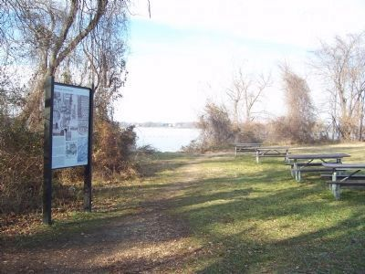Picnic area near marker. image. Click for full size.