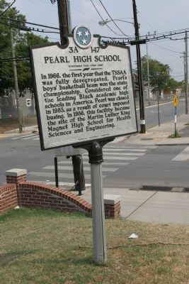 Pearl High School Marker image. Click for full size.