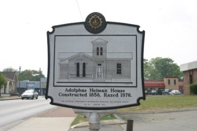 Adolphus Heiman Marker (Reverse Side) image. Click for full size.
