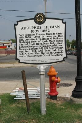 Adolphus Heiman Marker image. Click for full size.