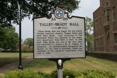 Talley-Brady Hall Marker image. Click for full size.