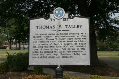 Thomas W. Talley Marker image. Click for full size.