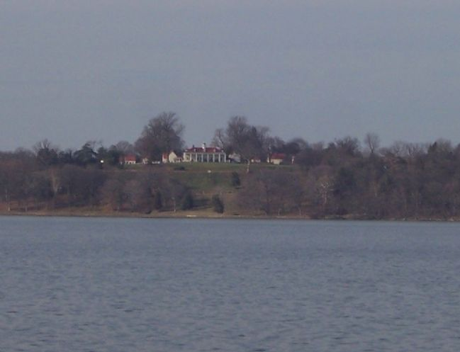 The Mount Vernon Estate, seen from the fishing pier at the National Colonial Farm, Piscataway Park image. Click for full size.