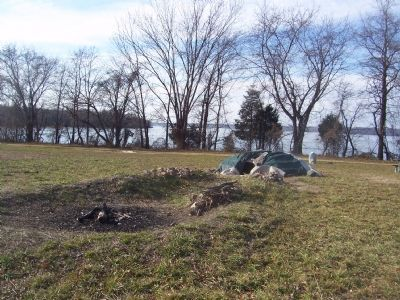Ceremonial Sweat Lodge near Marker, Piscataway Park. image. Click for full size.