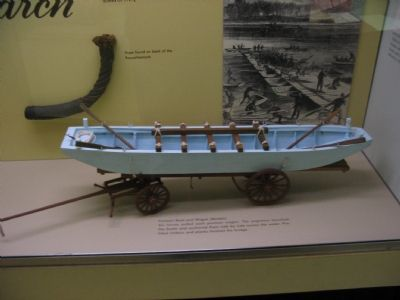 Model of Pontoon Boat and Wagon image. Click for full size.