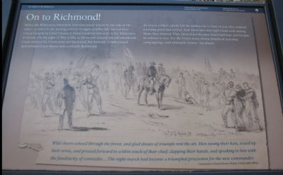 On to Richmond! Marker image. Click for full size.