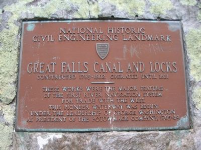 Great Falls Canal and Locks Marker image. Click for full size.
