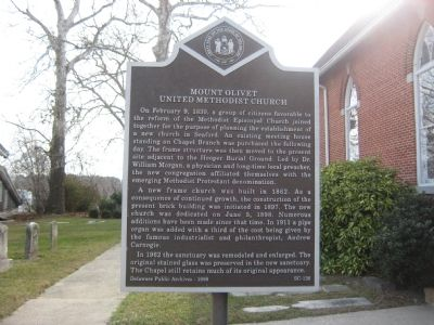 Mount Olivet United Methodist Church Marker image. Click for full size.