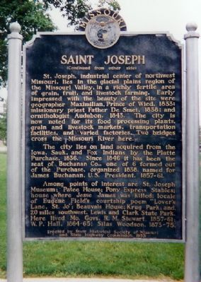 SAINT JOSEPH Marker side 2 image. Click for full size.