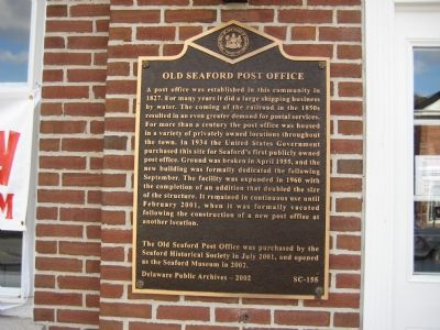 Old Seaford Post Office Marker image. Click for full size.