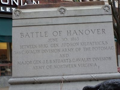 Battle of Hanover Marker image. Click for full size.