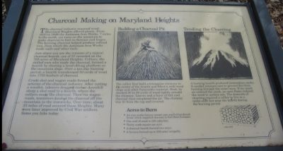 Charcoal Making on Maryland Heights Marker image. Click for full size.