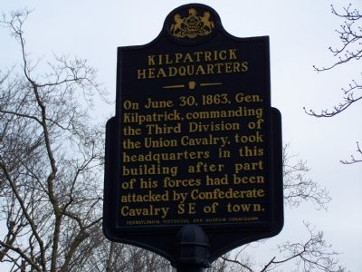 Kilpatrick Headquarters Marker image. Click for full size.