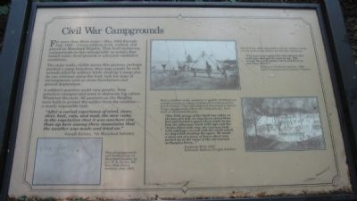 Civil War Campgrounds Marker image. Click for full size.