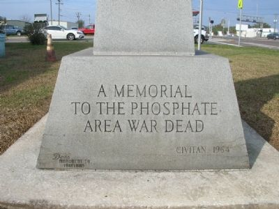 Phosphate Area War Memorial Marker image. Click for full size.