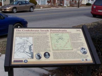 The Confederates Invade Pennsylvania Marker image. Click for full size.