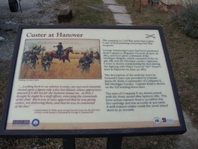 Custer at Hanover Marker image. Click for full size.