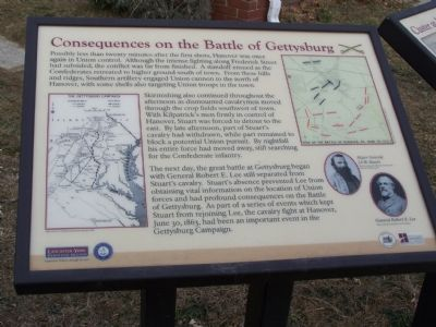 Consequences on the Battle of Gettysburg Marker image. Click for full size.