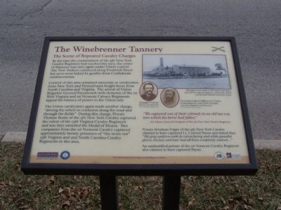 The Winebrenner Tannery Marker image. Click for full size.