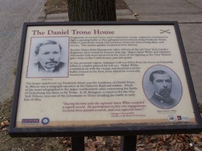 The Daniel Trone House Marker image. Click for full size.