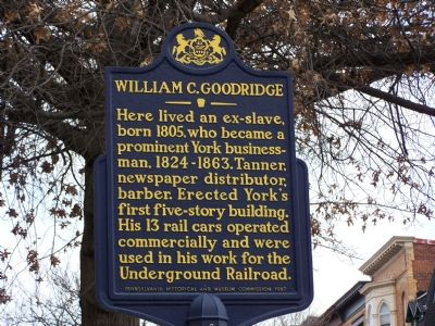 William C. Goodridge Marker image. Click for full size.