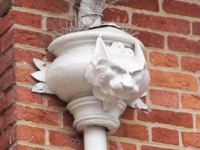 Gargoyle on downspout of William Goodridge house. image. Click for full size.