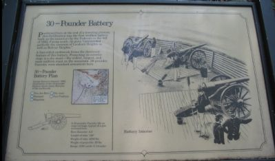 30-Pounder Battery Marker image. Click for full size.