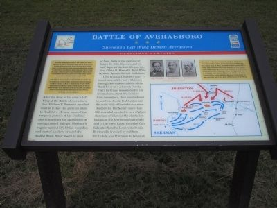 Battle of Aversboro - Sherman's Left Wing Departs Averasboro image. Click for full size.