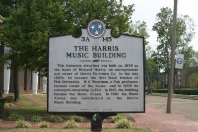 The Harris Music Building Marker image. Click for full size.