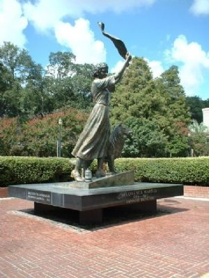 The Waving Girl Statue, in Savannah image. Click for full size.