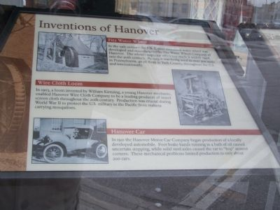 Inventions of Hanover Marker image. Click for full size.