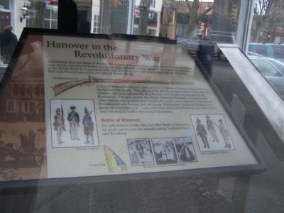 Hanover in the Revolutionary war Marker image. Click for full size.