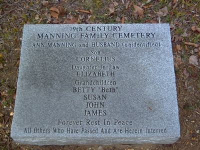Manning Familty Cemetery Marker image. Click for full size.