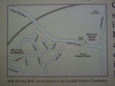 Map showing Belle Air in relation to the Leeland Station Community. image. Click for full size.