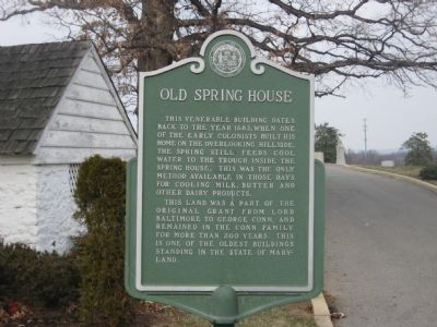 Old Spring House Marker image. Click for full size.