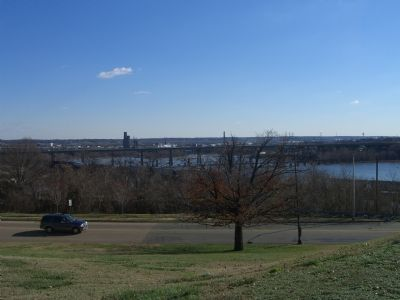View of the James River from the Virginia War Memorial image. Click for full size.