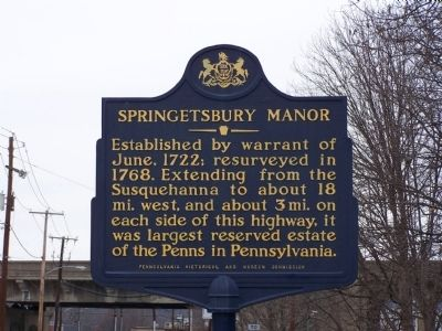 Springetsbury Manor Marker image. Click for full size.
