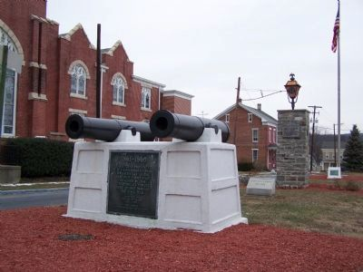 U.S.S. Maine Memorial Marker </b>(in the back right) image. Click for full size.