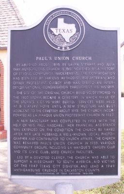 Paul's Union Church Marker image. Click for full size.