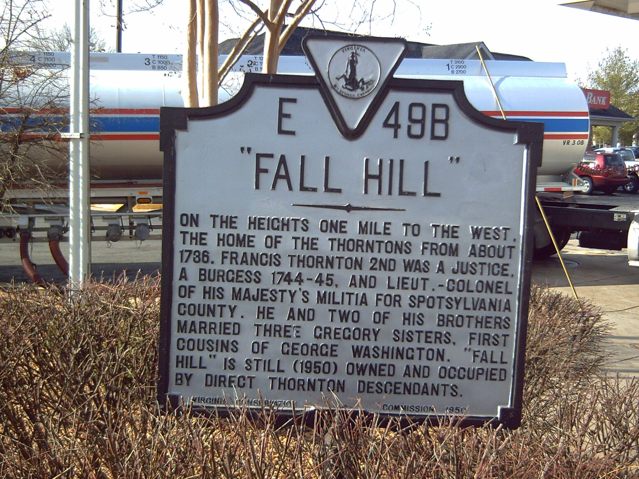 """Fall Hill"" Marker"