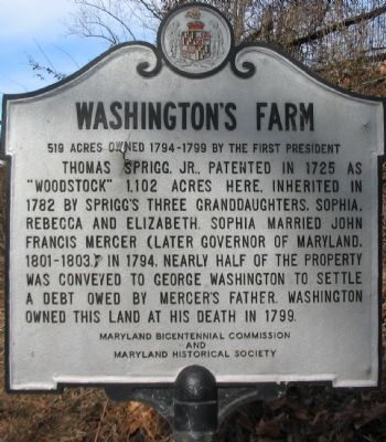 Washington's Farm Marker image. Click for full size.