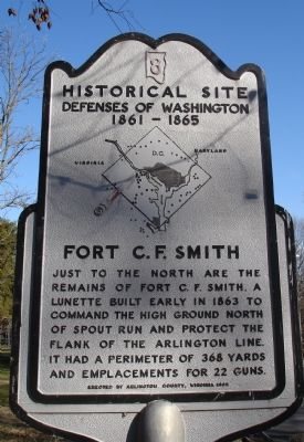 Fort C.F. Smith Marker image. Click for full size.