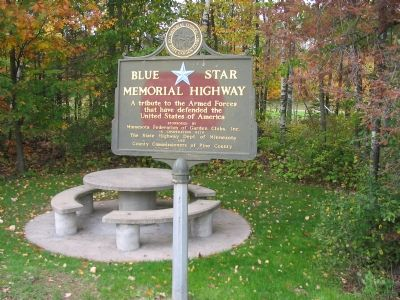 Nearby Blue Star Memorial Highway Marker image. Click for full size.